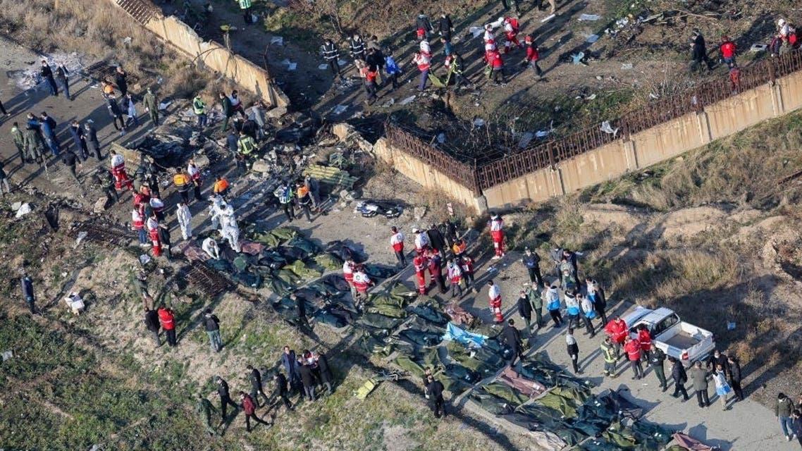 جثث ضحايا الطائرة الأوكرانية أسوشيتد برس