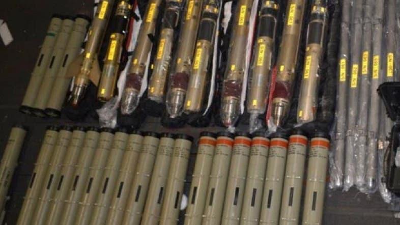 أسلحة إيرانية تم ضبطها قبل وصولها للحوثيين