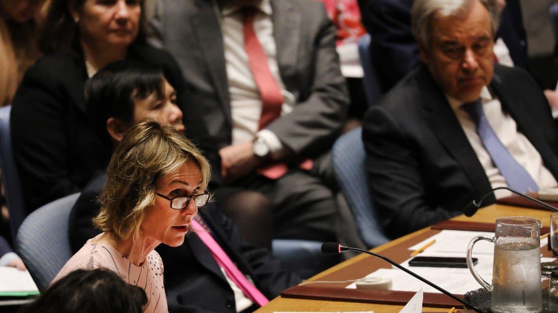 مندوبة واشنطن لدى الأمم المتحدة كيلي كرافت(أرشيفية- فرانس برس)