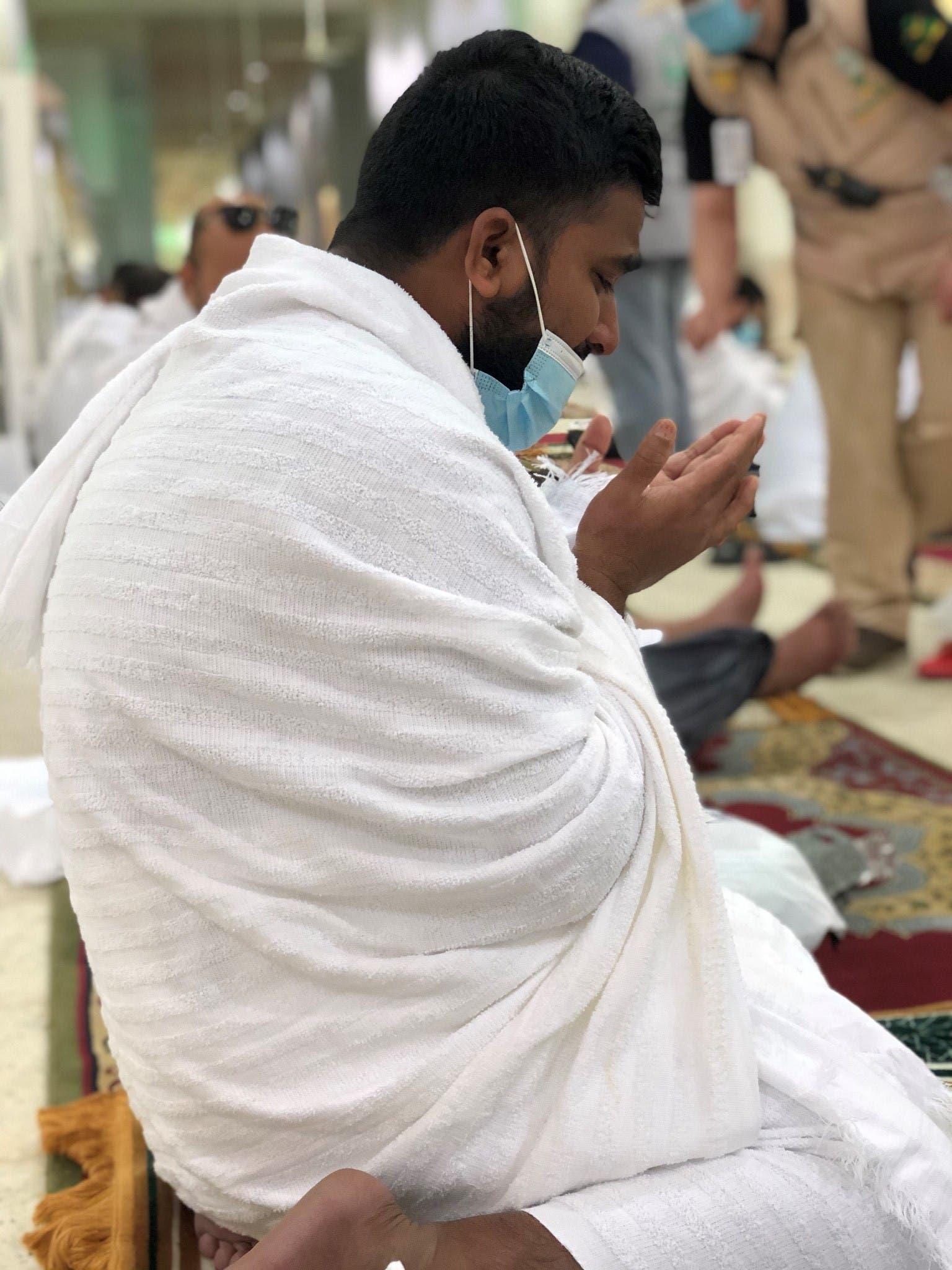 من داخل مسجد نمرة)