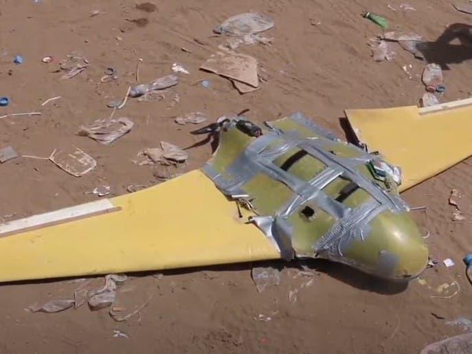 ویدیو؛ سرنگونی پهپاد حامل مهمات حوثیها در یمن