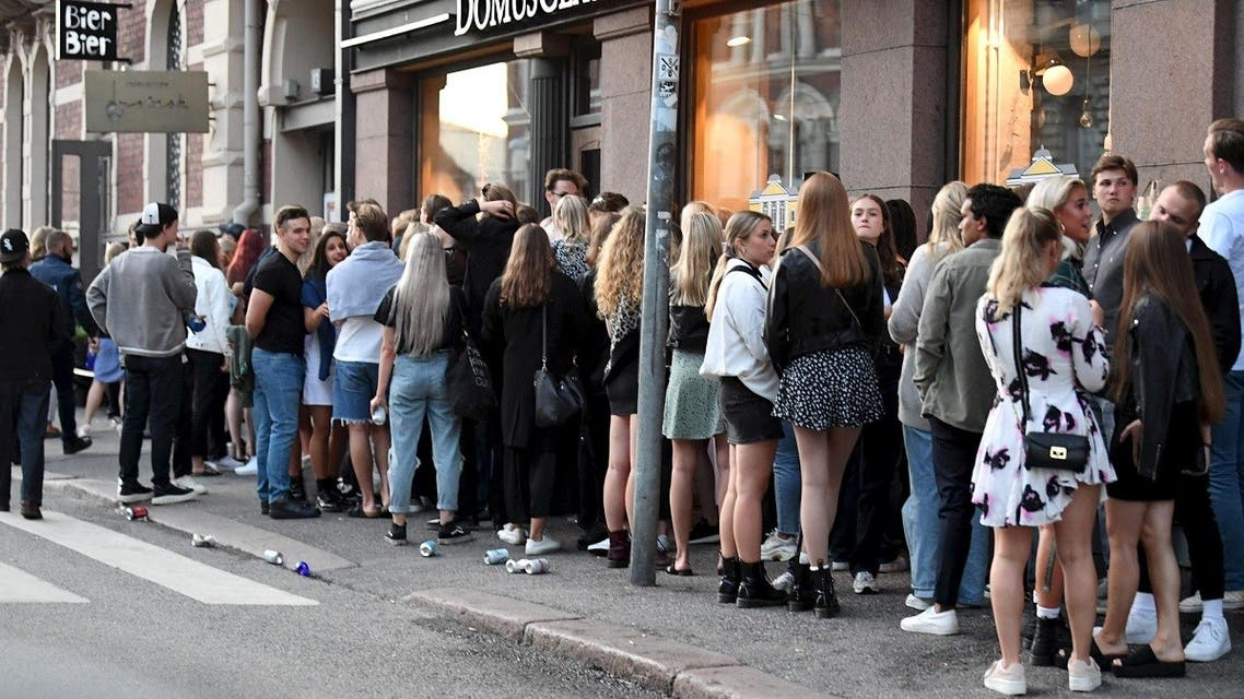 Nightclubs open after the coronavirus disease (COVID-19) restrictions are lifted, in Helsinki. (Reuters)