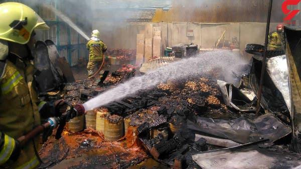 """حرائق إيران """"الغامضة"""".. النيران تلتهم منطقة تجارية بطهران"""