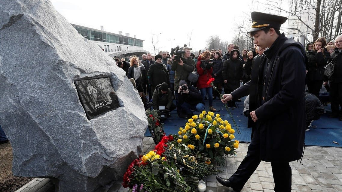 Foundation stone laying ceremony for a future memorial site to the people killed in a plane shot down in Iran, at the Boryspil Airport outside Kiev. (Reuters)
