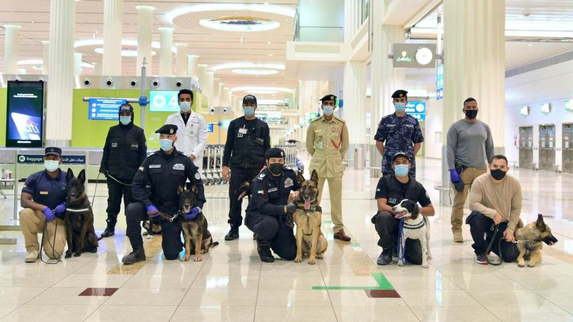 UAE trains police dogs to sniff out COVID-19. (WAM)