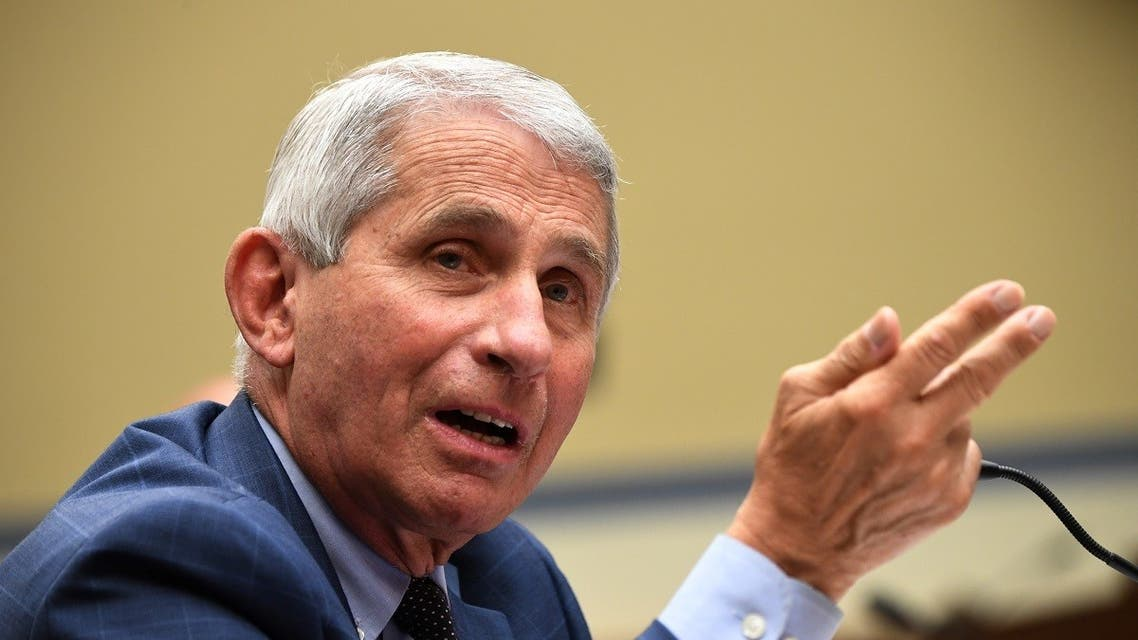 Dr. Anthony Fauci, director of the National Institute for Allergy and Infectious Diseases, testifies during the House Select Subcommittee on the Coronavirus Crisis hearing in Washington. (Reuters)