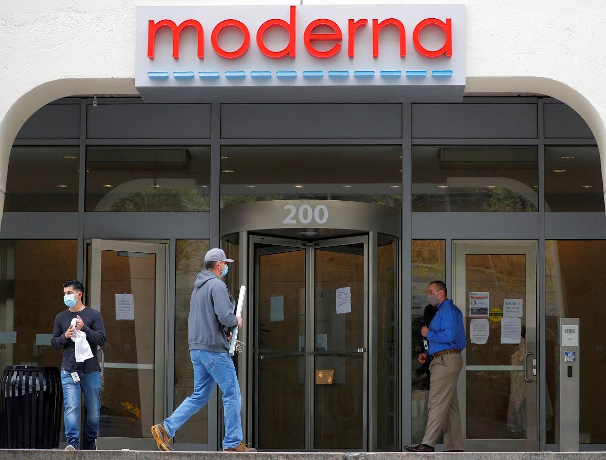 Moderna Therapeutics seen during COVID-19 in Massachusetts. (Reuters)