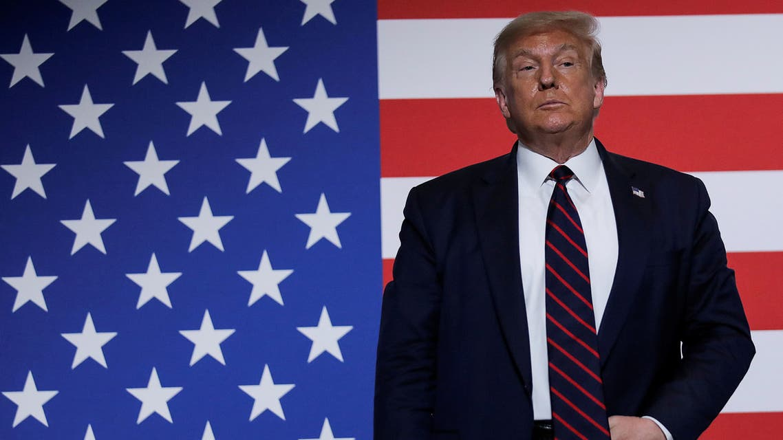US President Donald Trump at a roundtable on donating plasma during a visit to the American Red Cross National Headquarters, July 30, 2020. (Reuters)