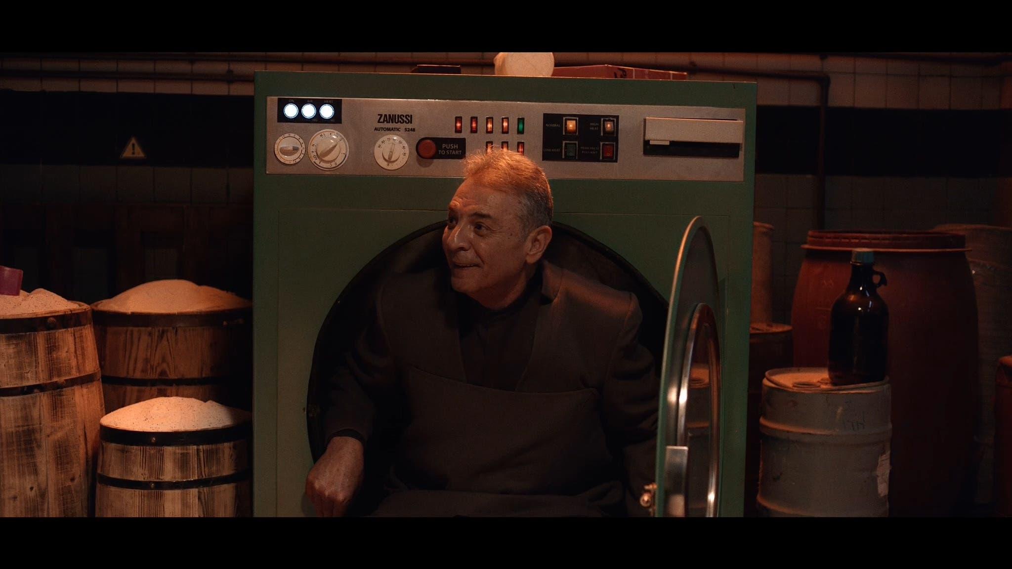 مشهد من فيلم الغسالة