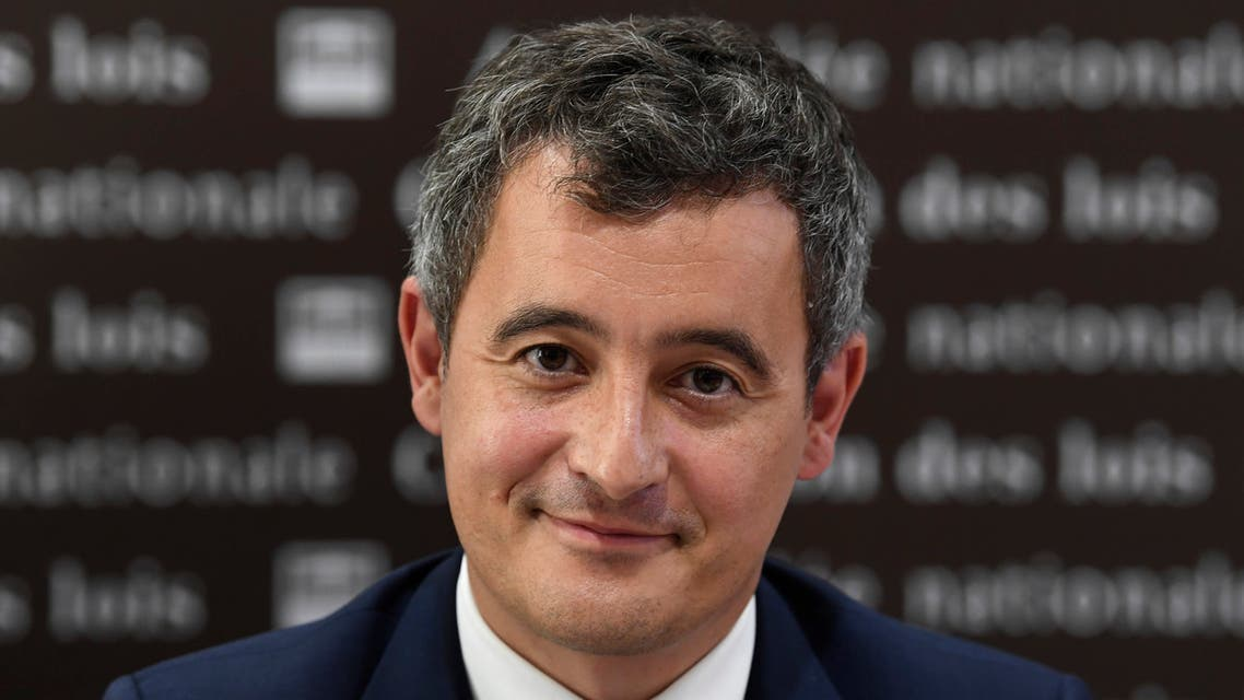 French Interior Minister Gerald Darmanin looks on during a hearing before the Law Committee of the Assembly in Paris on July 28, 2020.