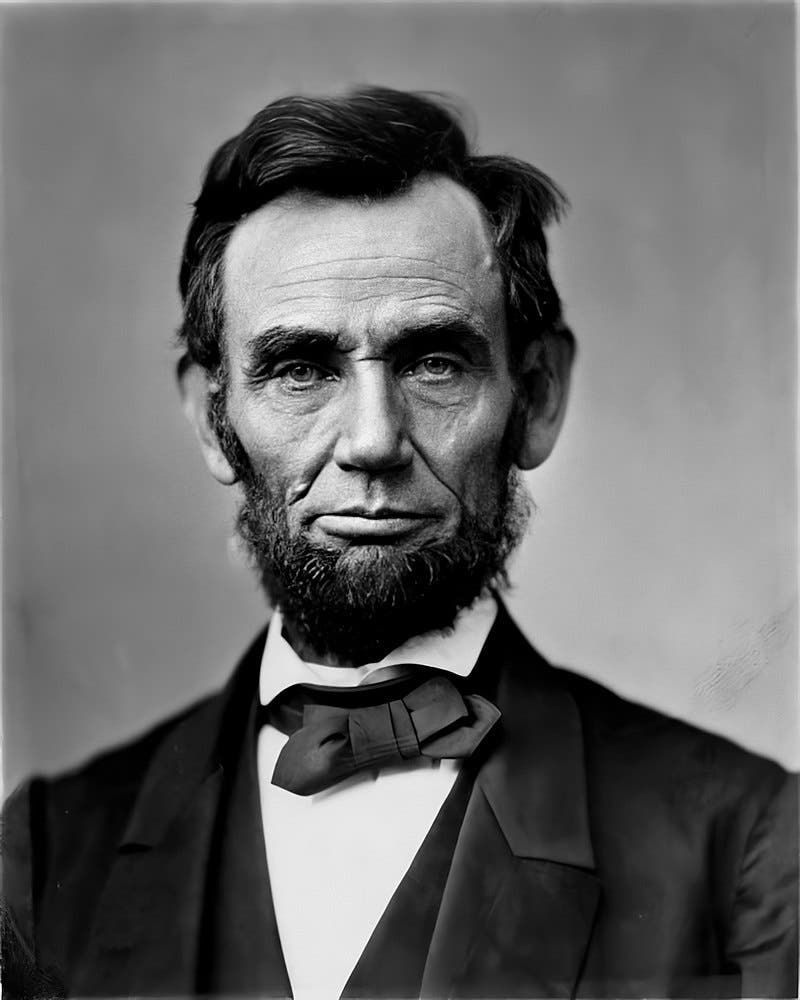 الرئيس الأميركي ابراهام لنكولن