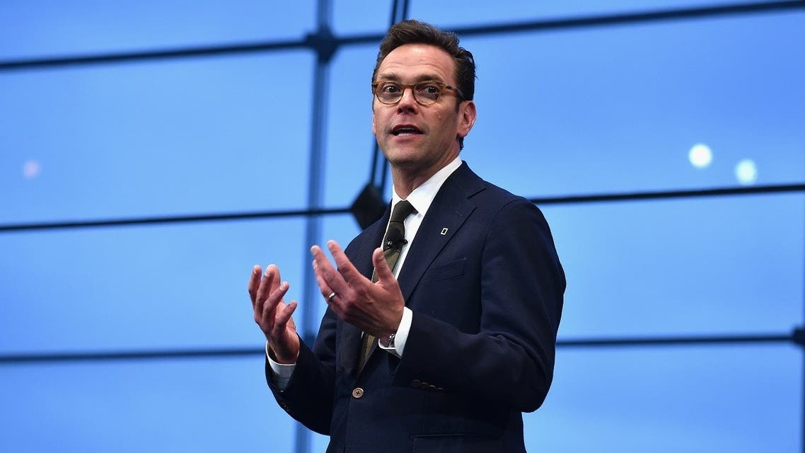 CEO of 21st Century Fox James Murdoch speaks at National Geographic's Further Front Event at Jazz at Lincoln Center. (AFP)