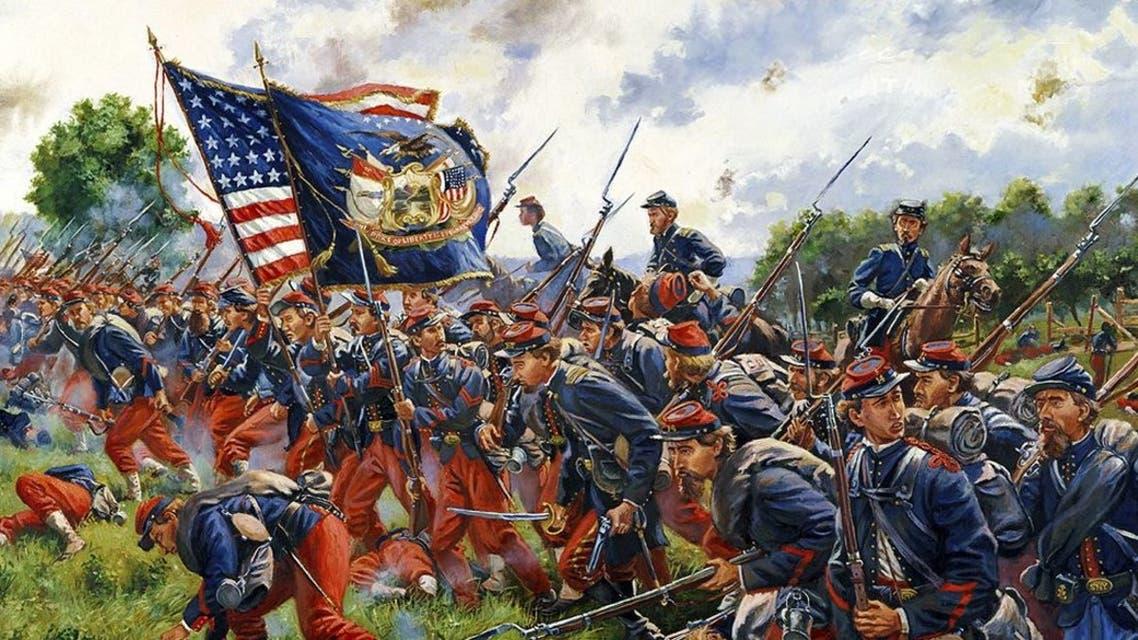 لوحة تجسد جنودا أميركيين بالحرب الأهلية