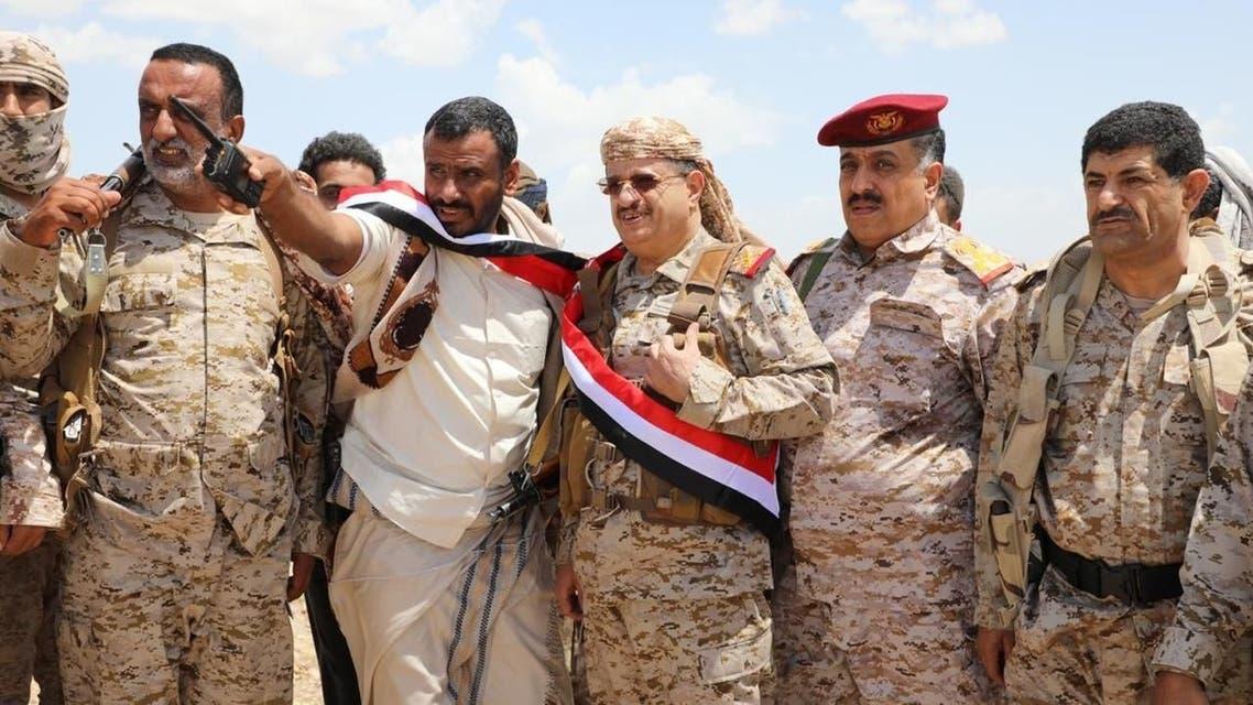 وزير الدفاع اليمني الفريق محمد المقدشي في نهم