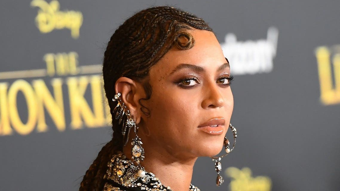 US singer/songwriter Beyonce arrives for the world premiere of Disney's The Lion King at the Dolby theatre on July 9, 2019 in Hollywood. (AFP)