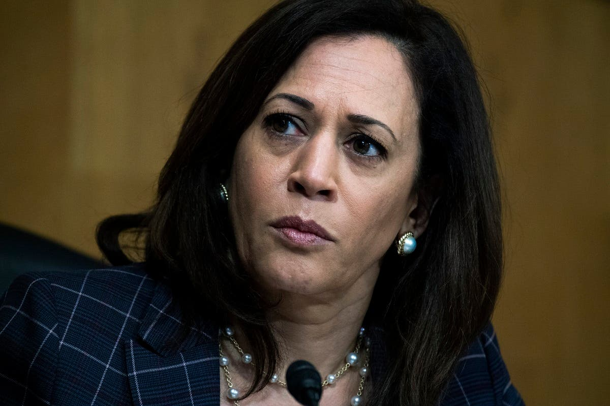 In this June 25, 2020 file photo, Harris attends a Senate Homeland Security and Governmental Affairs Committee hearing on Capitol Hill in Washington. (AP)