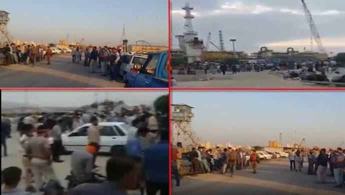 من إضرابات عمال مصافي النفط الإیرانیة