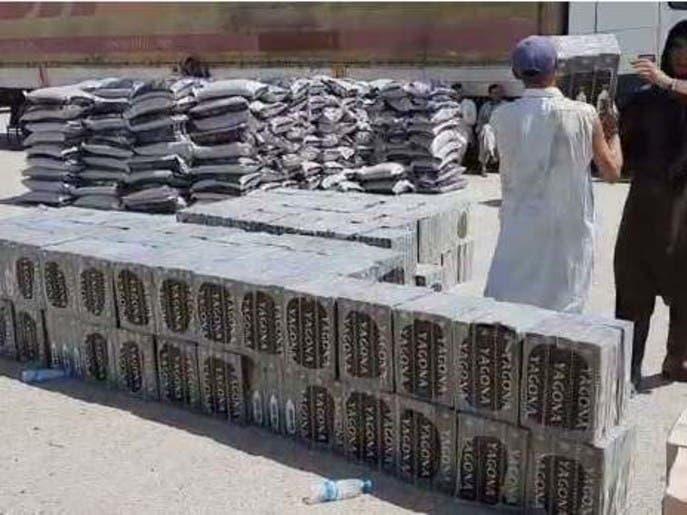 کشف و ضبط بیش از 9 هزار بوتل مشروبات الکلی در بندر حیرتان افغانستان