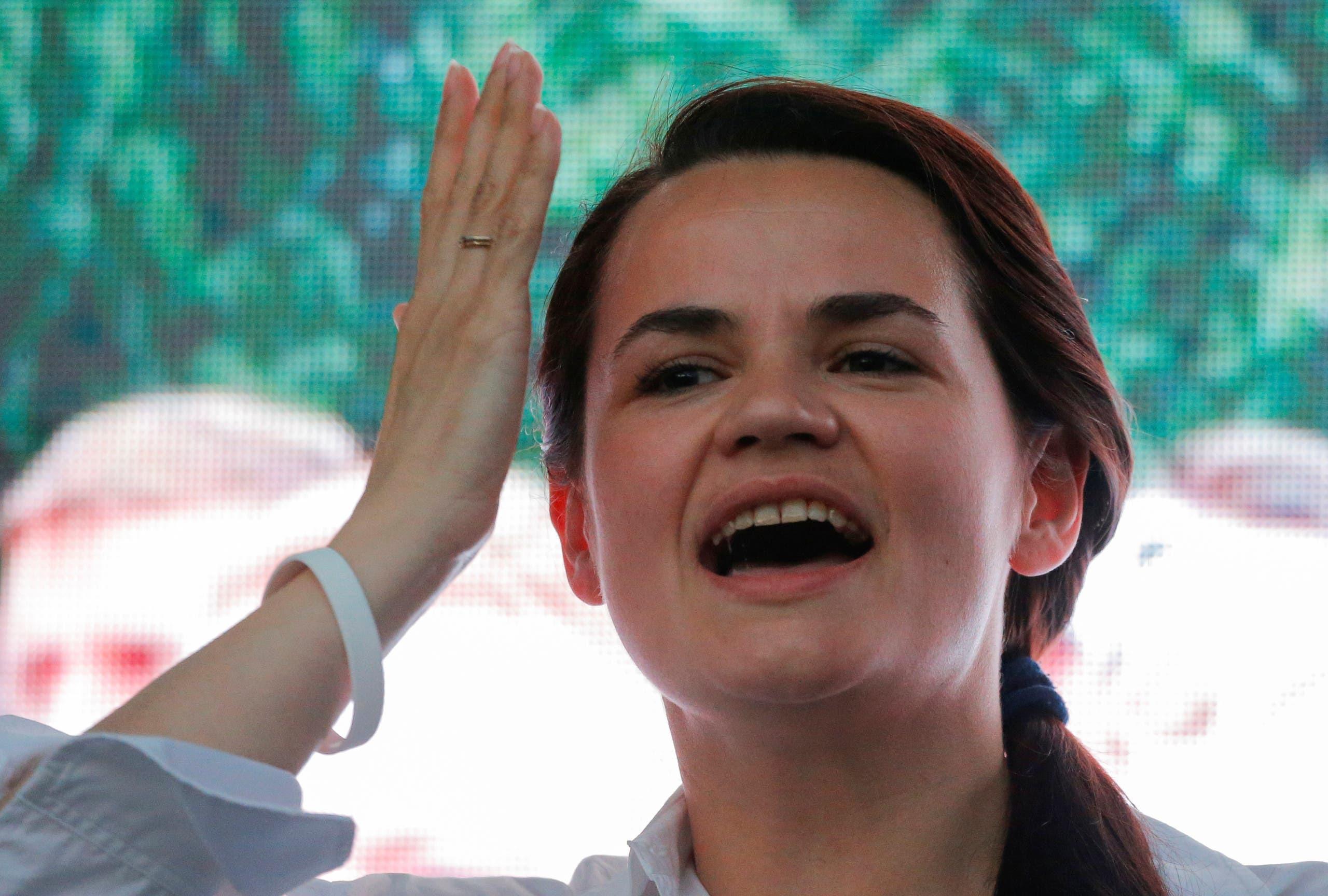 مرشحة المعارضة للانتخابات الرئاسية سفيتلانا تيخانوسكايا