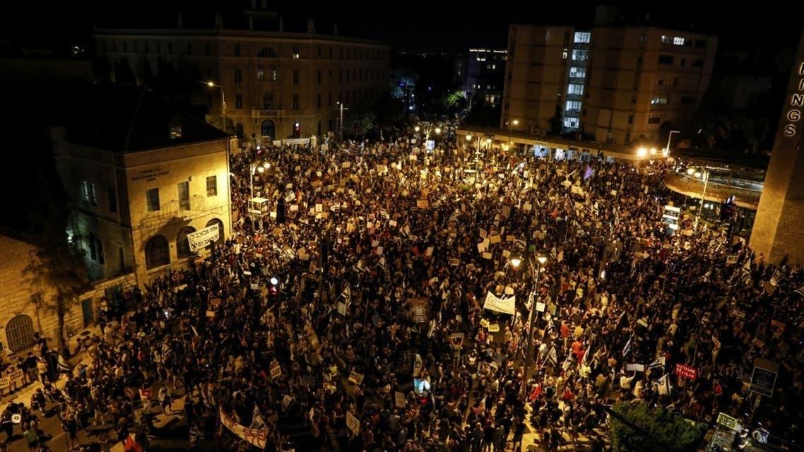 تظاهرات غاضبة ضد نتنياهو