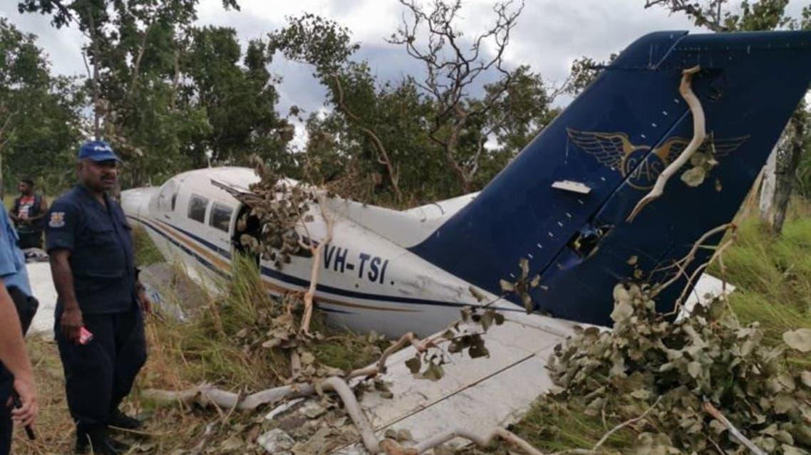 الطائرة التي تحطمت