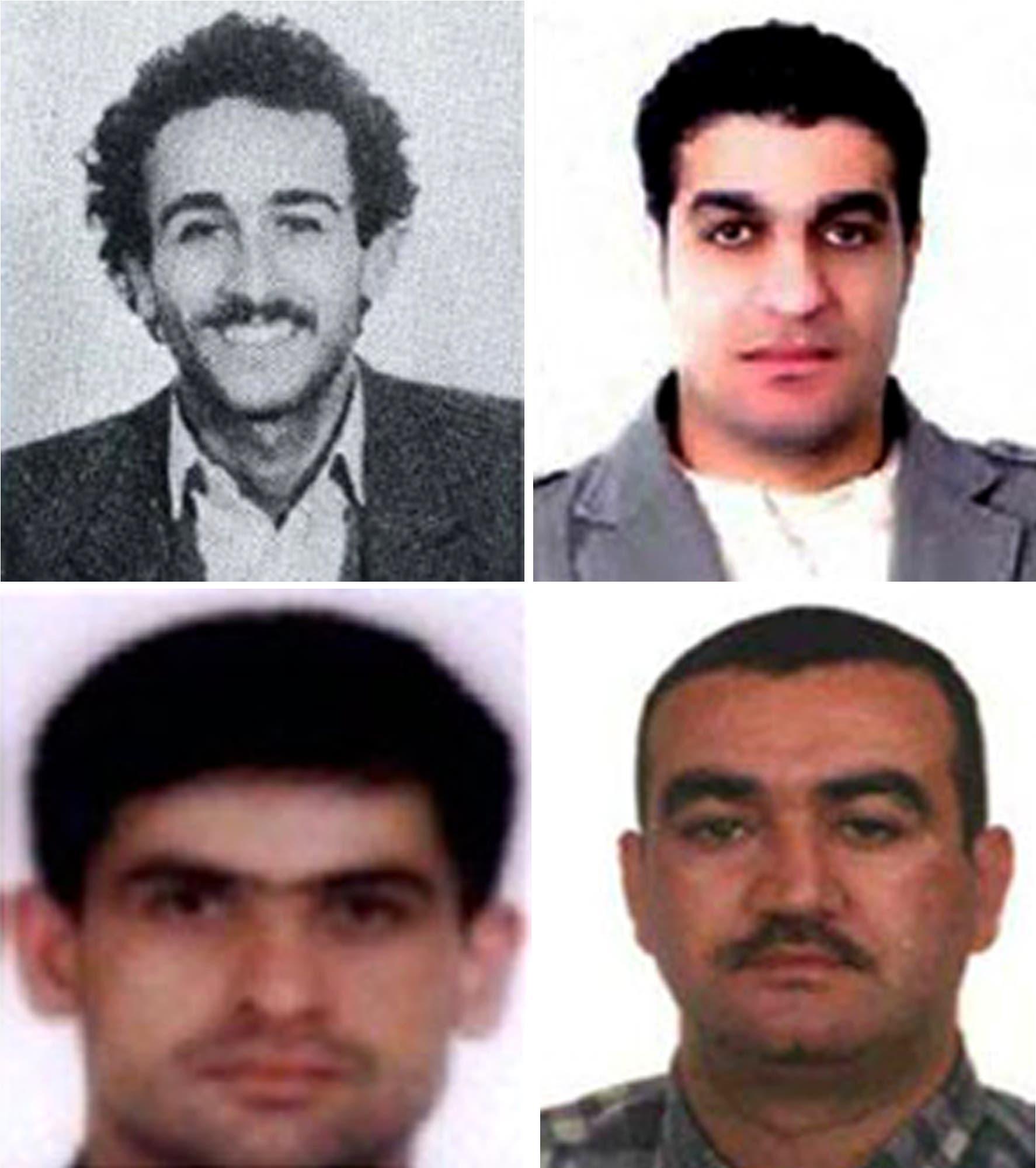 من أعلى اليسار إلى اليمين: مصطفى بدر الدين وأسد صبرا وحسين عنيسي وسليم عياش