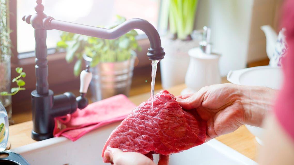 غسل اللحوم n