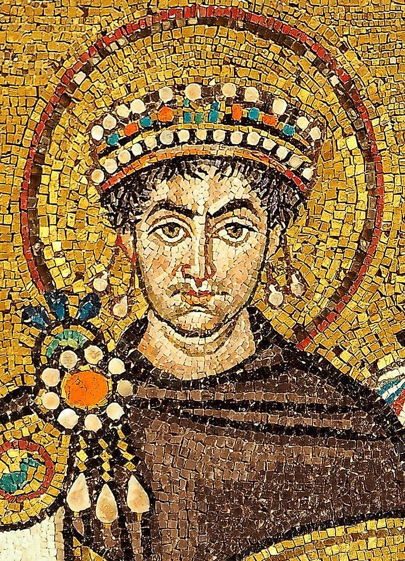 صورة للإمبراطور جستنيان الأول