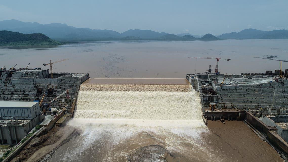 سد النهضة الإثيوبي على نهر النيل الأزرق يوم 21 يوليو