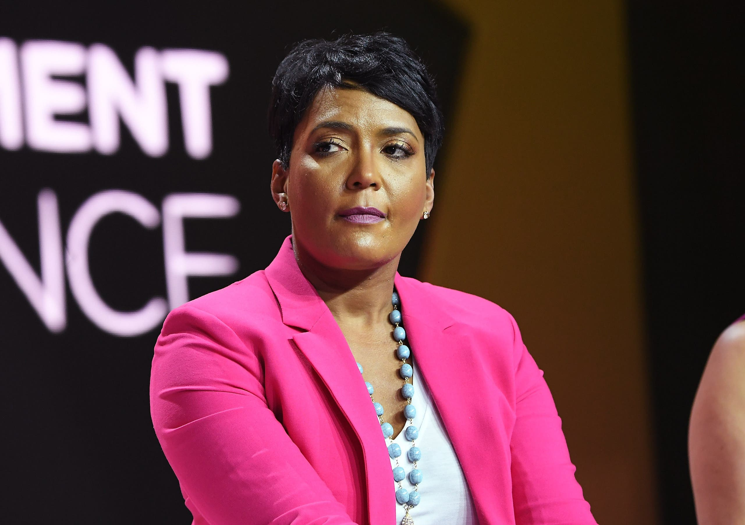 Mayor of Atlanta Keisha Lance Bottoms speaks onstage, July 6, 2018. (AFP)