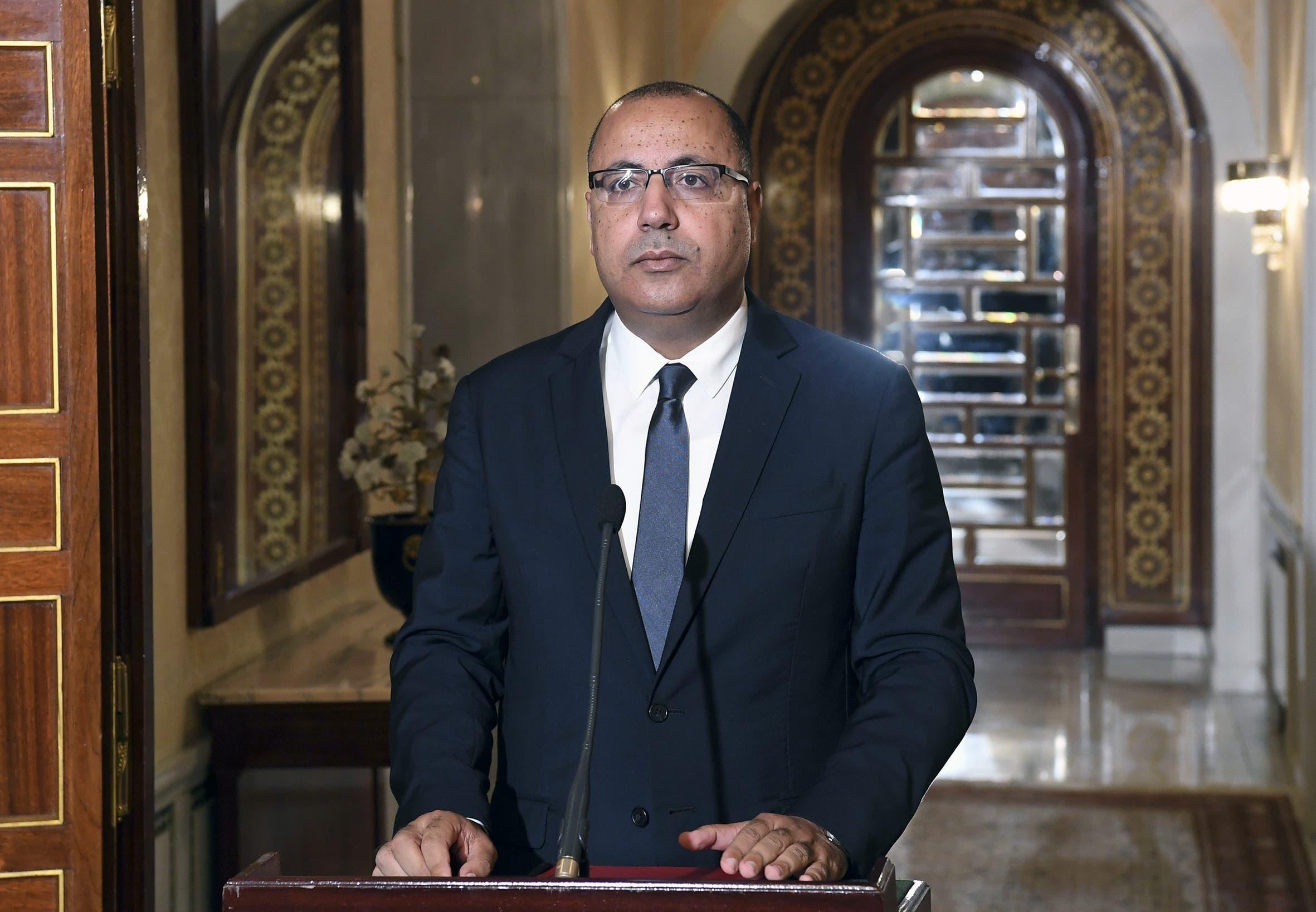 وزير الداخلية التونسي السابق ورئيس الحكومة المكلف هشام المشيشي(أرشيفية- فرانس برس)