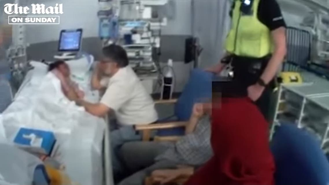 Police officers dragged a grieving father from the hospital bedside of his dying six-year-old daughter according to UK media. (Screengrab)
