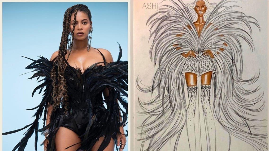 Beyonce dressed by Saudi Arabian designer Mohammed Ashi. (Twitter / Instagram)