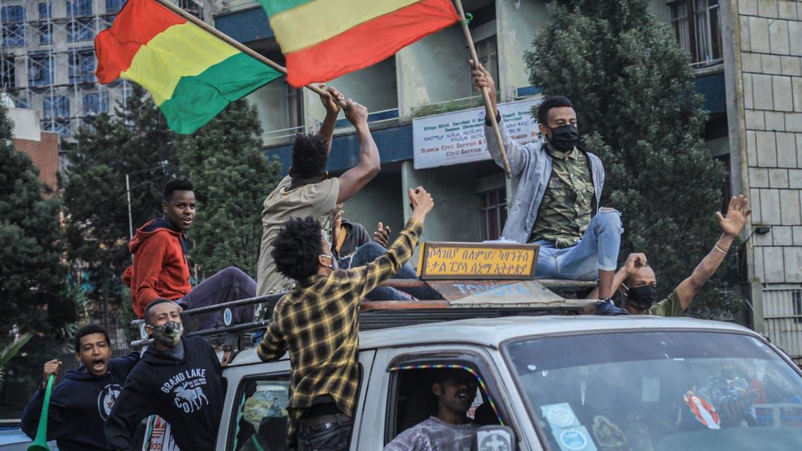 احتفالات في الشارع الإثيوبي (أرشيفية- فرانس برس)