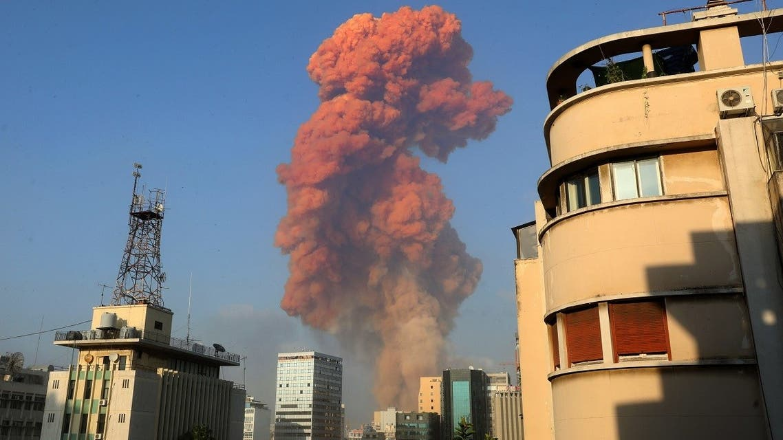 A picture shows the scene of an explosion in Beirut on August 4, 2020. (AFP)
