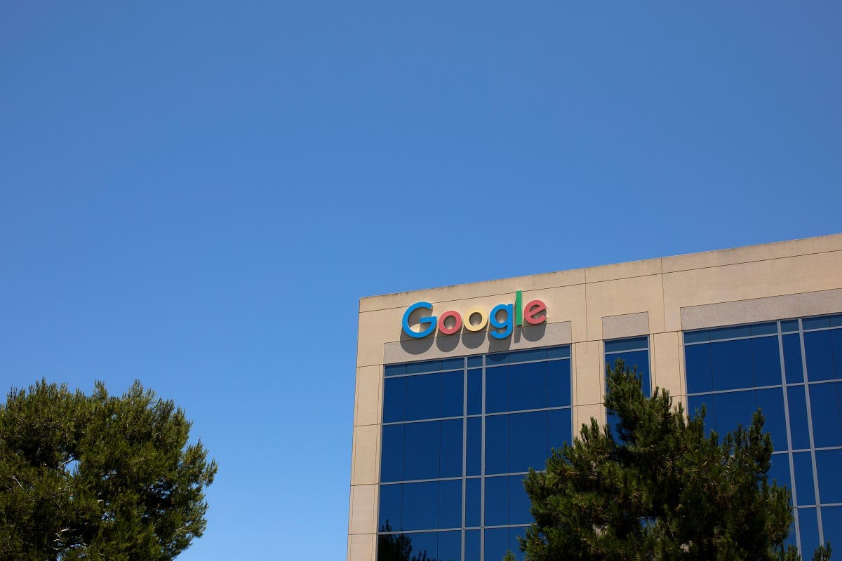 A Google building is shown at one of the company's office complexes in Irvine, California, US, July 27, 2020. The US Wiretap Act of 1968 is being invoked in a privacy suit against the company. (Reuters)