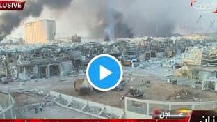 شاهد الدمار الهائل جراء انفجار بيروت