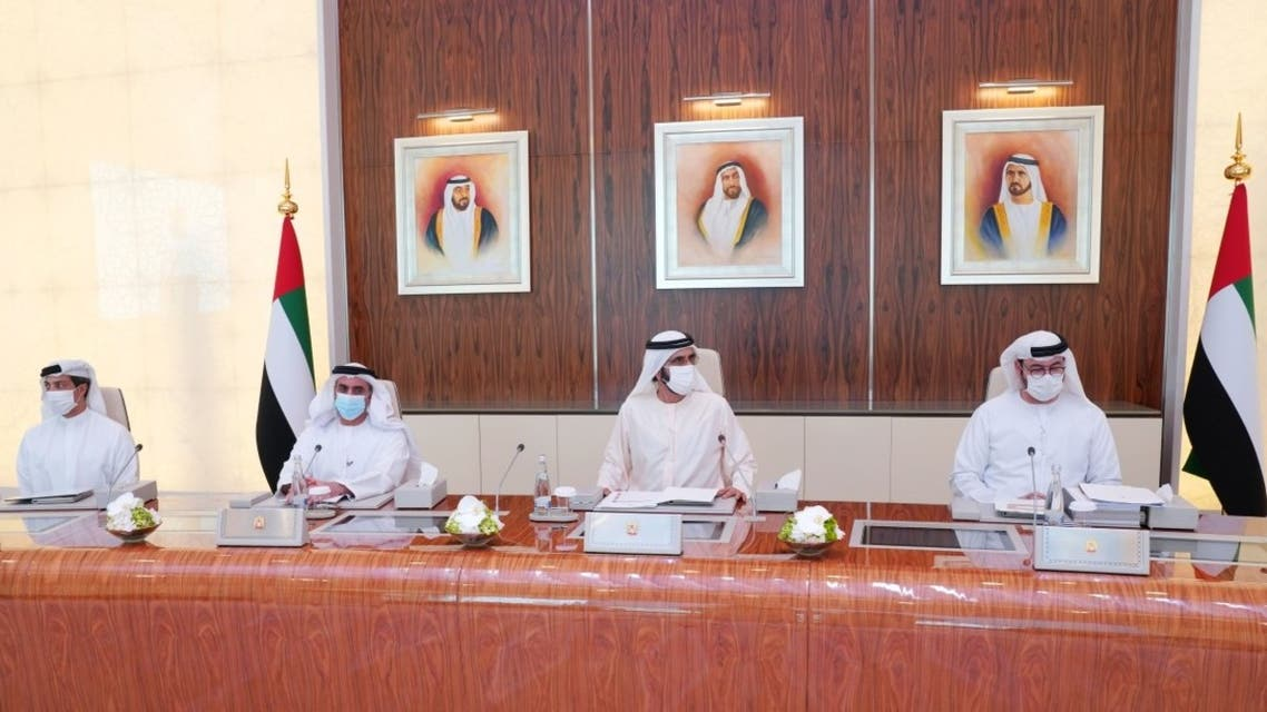 Sheikh Mohammed bin Rashid Al Maktoum, Vice President, Prime Minister and Ruler of Dubai chairs UAE Cabinet meeting. (WAM)
