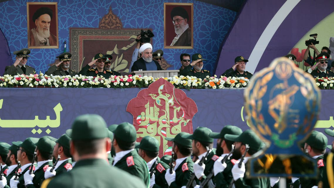Iranian President Hassan Rouhani is seen during the ceremony of the National Army Day parade in Tehran, Iran September 22, 2019. (Reuters)