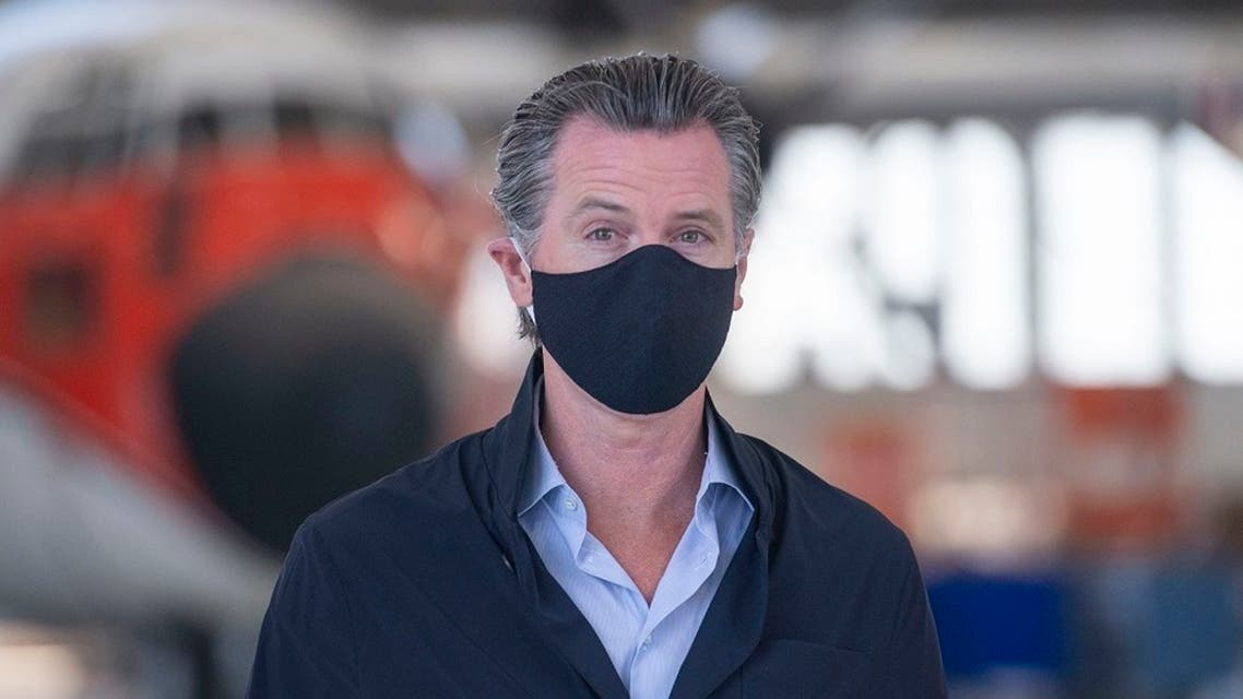 California Gov. Gavin Newsom visits the Cal Fire McClellan Reload Base in Sacramento, July 9, 2020. (File Photo: AP)