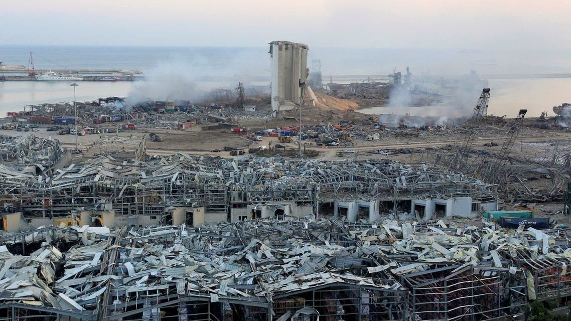 A view shows damages at the site of Tuesday's blast in Beirut's port area, Lebanon August 5, 2020. REUTERS/Aziz Taher