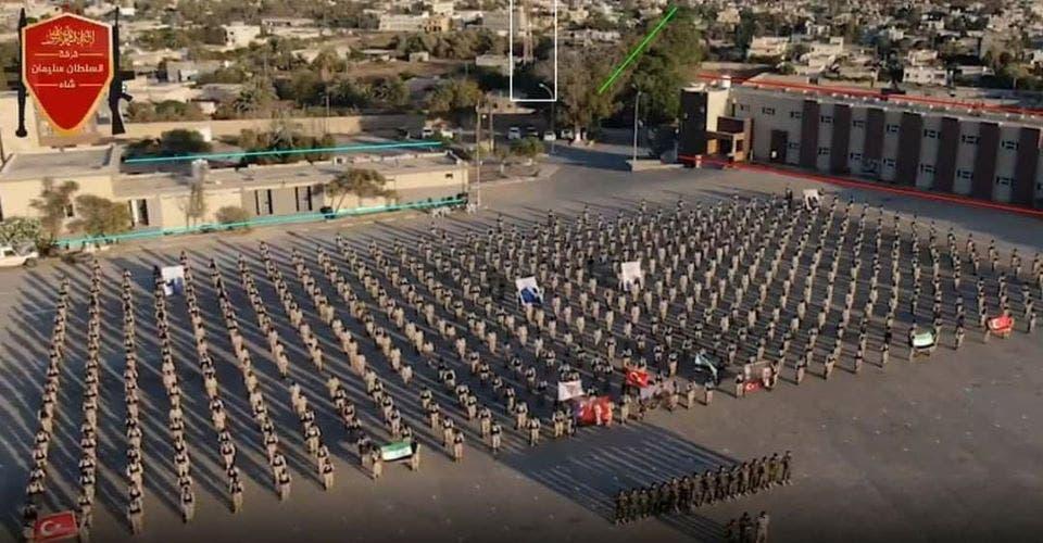عرض عسكري في العاصمة الليبية لمرتزقة أرسلتهم تركيا