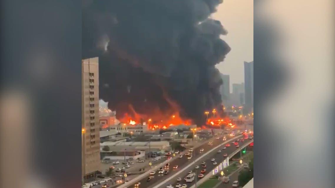Large fire breaks out in a market in UAE emirate of Ajman
