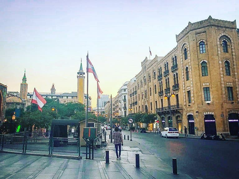 وسط بيروت كما كان قبل الانفجار