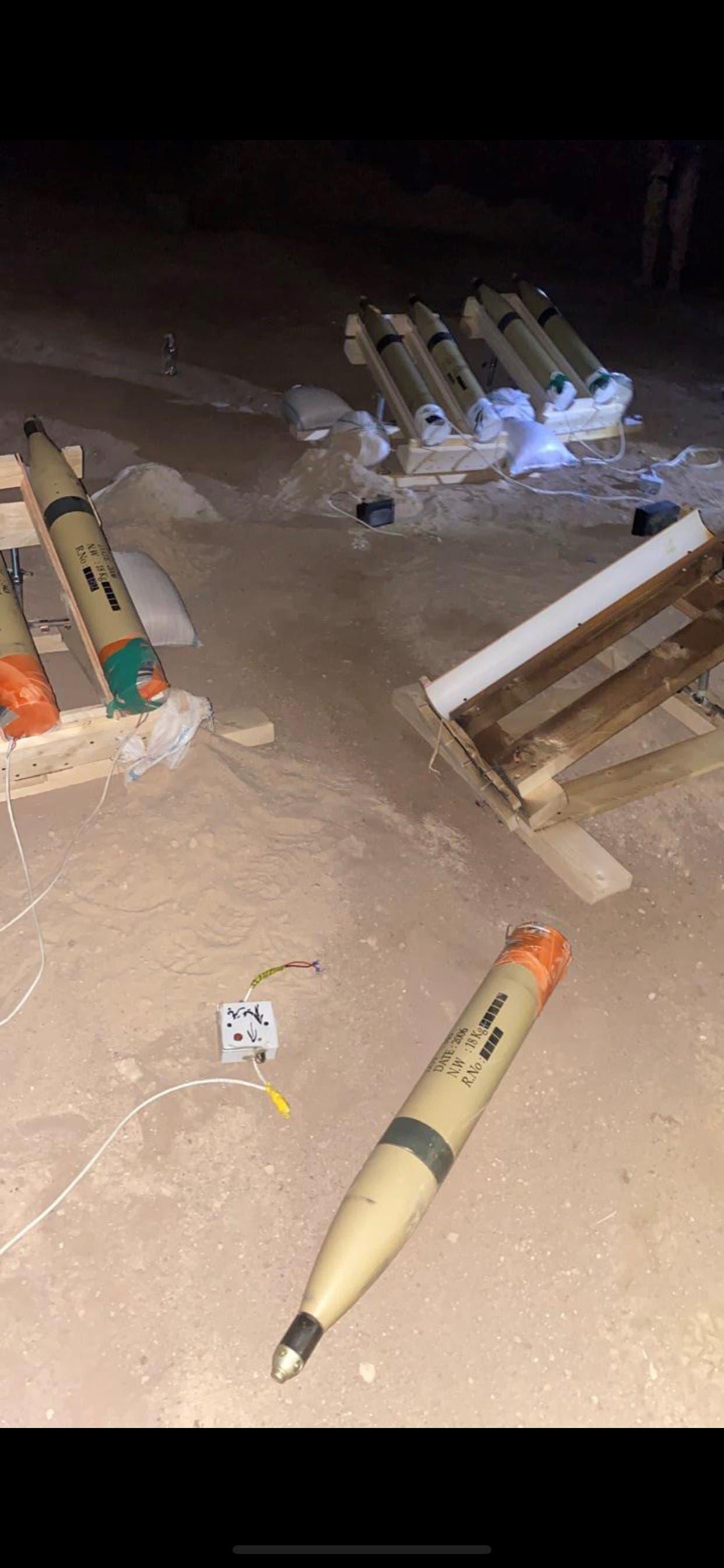 صواريخ كاتيوشا تم ضبطها وسط بغداد مُعدّة لاستهداف السفارة الأميركية (أرشيفية)