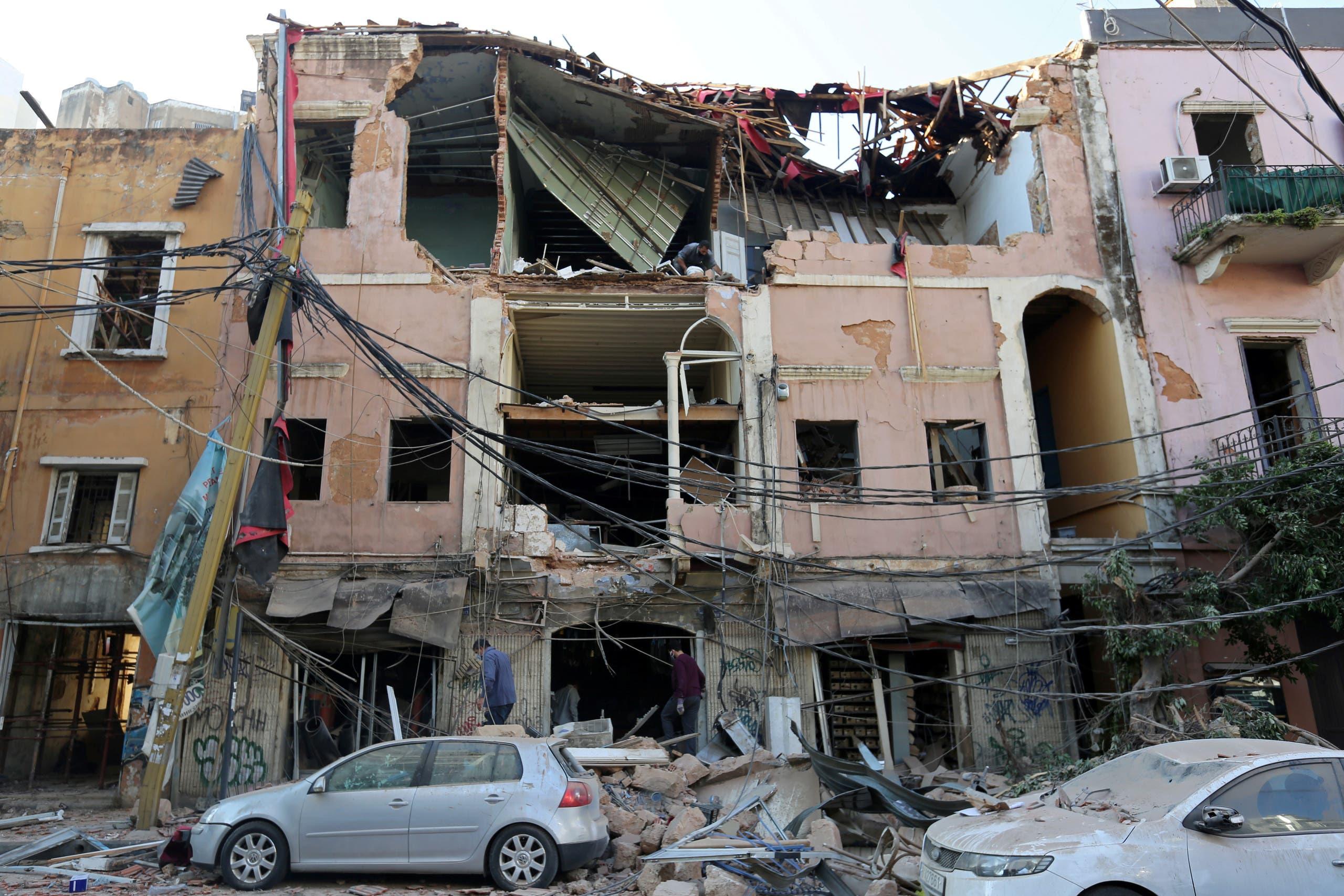 من الأضرار التي خلفها انفجار مرفأ بيروت