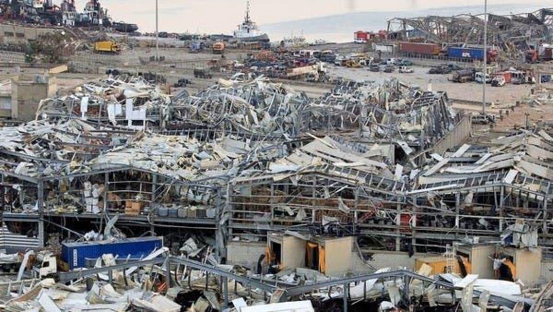 Beirut Damages Port Area