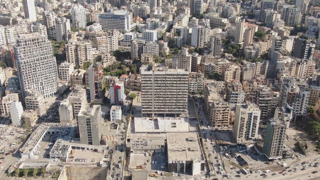 حجم الدمار الذي خلفه انفجار بيروت