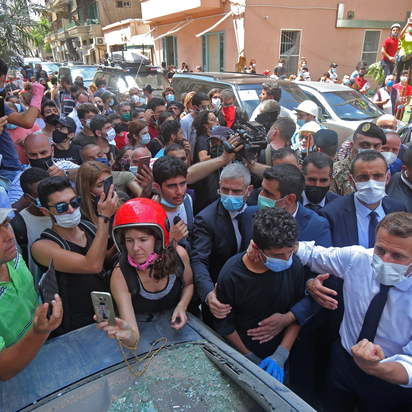 ماكرون يعد اللبنانيين: لن تطال أيدي الفساد مساعداتكم