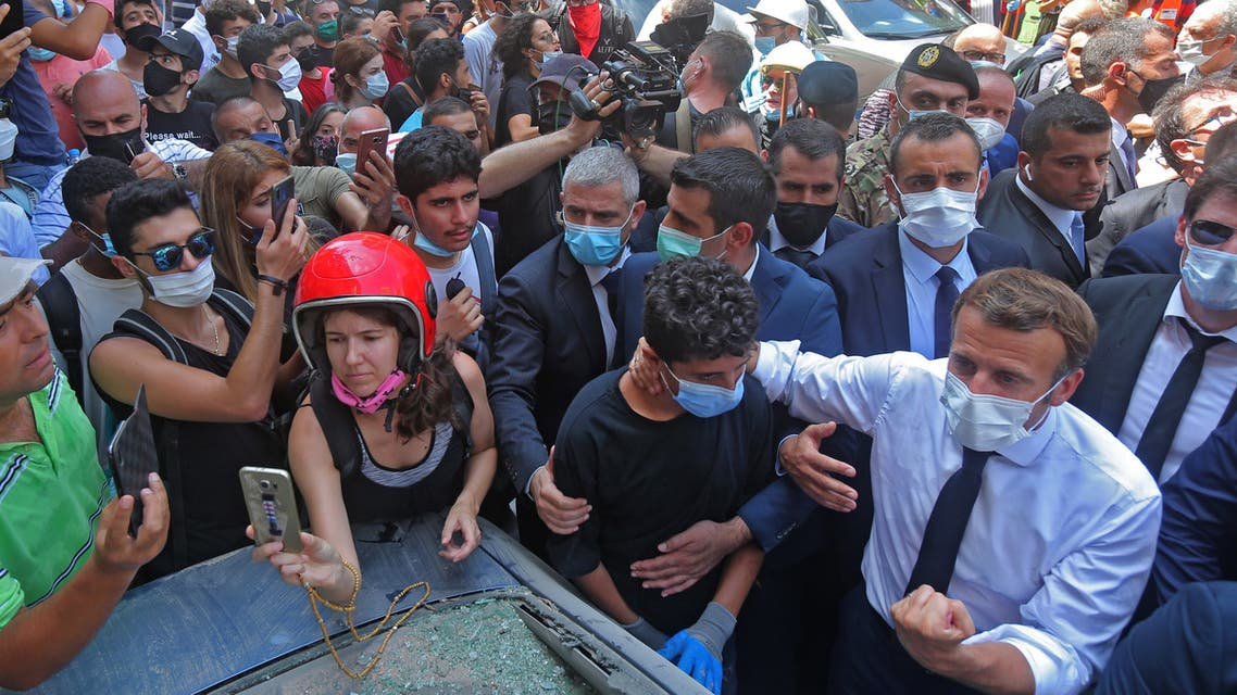ماكرون في بيروت